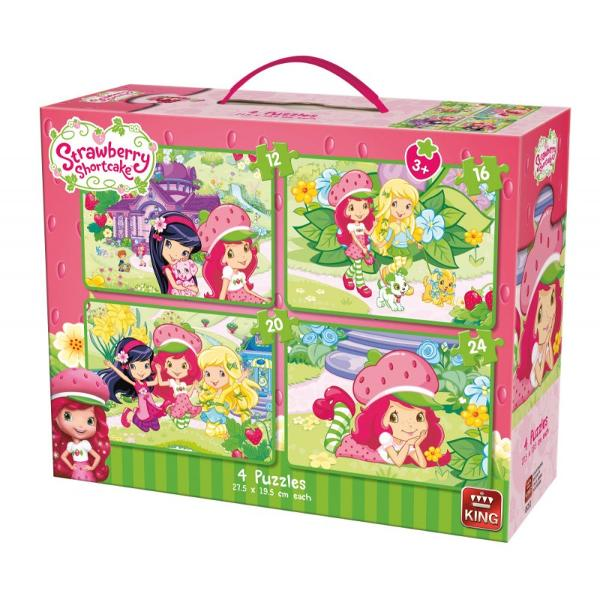 Puzzle 12 16 20 24 piese StrawberryTematica este inspirata din filmul de desene animate Capsunica Prajiturica Strawbbery Intra in lumea povestilor si bucura-te de acest puzzle simpatic ce-ti va incanta ziuaDimensiuni puzzle 275x195 cmDimensiuni cutie 265x20x85 cm - tip gentuta