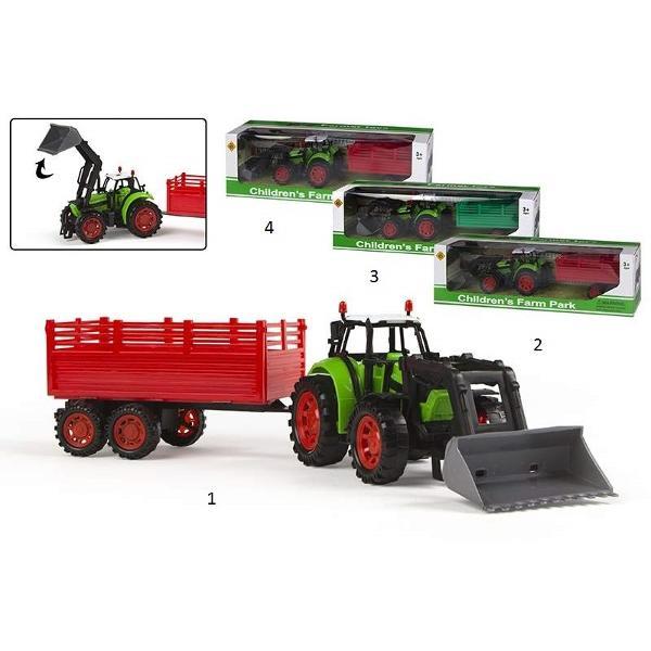 Tractor cu remorca Tractor cu remorca si cupa este prezentat in patru modele diferite