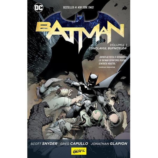 Bruce Wayne cunoa&351;te pove&351;tile despre Conclavul bufni&355;elor din Gotham Membrii periculoasei cabale se întâlnesc în secret &351;i conduc ora&351;ul din umbr&259; Pentru Batman toate astea au fost doar n&259;scociri c&259;ci Gothamul era ora&351;ul lui Dar un asasin aparent imposibil de oprit î&351;i împlânt&259; adânc ghearele în inima metropolei &355;intind cet&259;&355;eni de