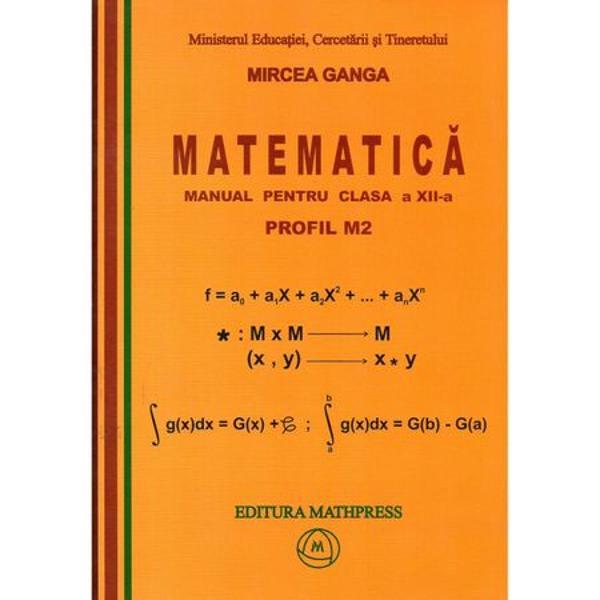 Matematica clasa a XIIa M2 Ganga