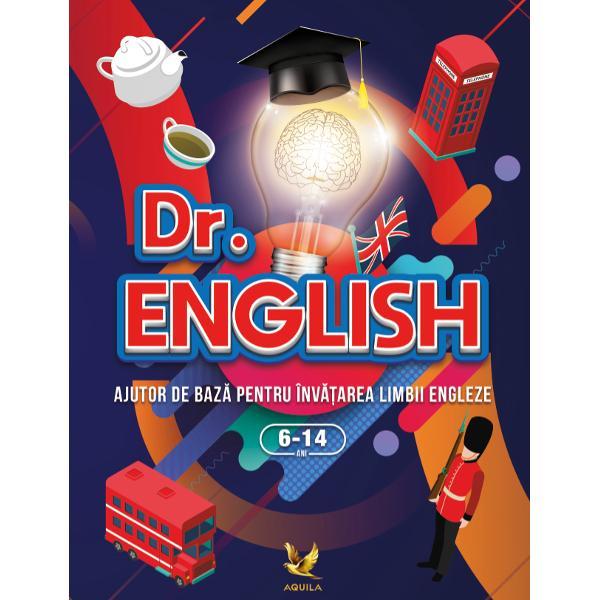 Dr English este o carte practic&259; accesibil&259; perfect&259; pentru a introduce orice încep&259;tor în universul limbii engleze Înv&259;&539;area va fi distractiv&259; plin&259; de surprize &537;i de culoare Copiii vor fi ner&259;bd&259;tori s&259; descopere informa&539;iile de la un capitol la altul astfel c&259; timpul destinat studiului va trece pe nesim&539;ite În final vor avea o baz&259; în ceea ce prive&537;te