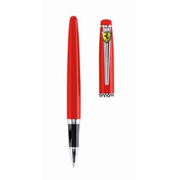 Pix roller Ferrari Monaco rosu&160;Pix cu capacCuloare pix&160;RosuCuloare scriere NegruTip cerneala pe baza de apa