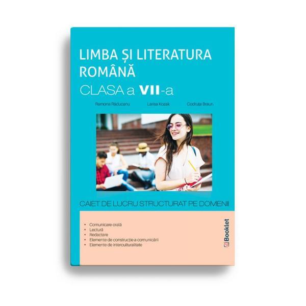 În conformitate cu noua program&259; &537;colar&259; pentru clasa a VII-aLimba &537;i literatura român&259; – caiet de lucru pentru clasa a VII-a vine în sprijinul elevilor propunându-le o serie de exerci&539;ii atractive grupate pe domeniile– comunicare oral&259;– lectur&259;– redactare– elemente de construc&539;ie a comunic&259;rii– elemente de interculturalitateMetoda de