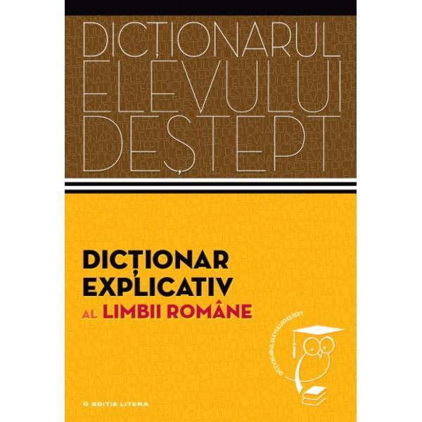 Adresându-se în mod preponderent elevilor de gimnaziu &537;i de liceu acest dic&539;ionar explicativ cuprinde peste 14 100 de cuvinte-titlu din toate palierele limbii române Formatul prietenos &537;i probitatea &537;tiin&539;ific&259; îl recomand&259; drept un instrument de lucru util &537;i eficient