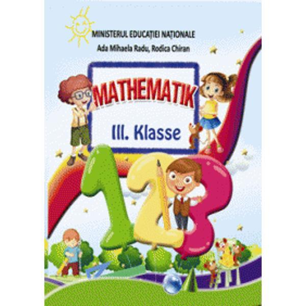Manualul de Matematic&259; pentru clasa a III-a urm&259;re&351;te în mod fidel programa &351;colar&259; a disciplinei &351;i înlesne&351;te înv&259;&539;area prin simplitatea &351;i acurate&539;ea pred&259;rii Totul este tratat într-un mod cât se poate de atractiv menit s&259; sprijine procesul didactic prin ac&539;iuni participative care capteaz&259; aten&539;ia &351;i prin utilizarea de procedee moderne Matematica este o prezen&539;&259;