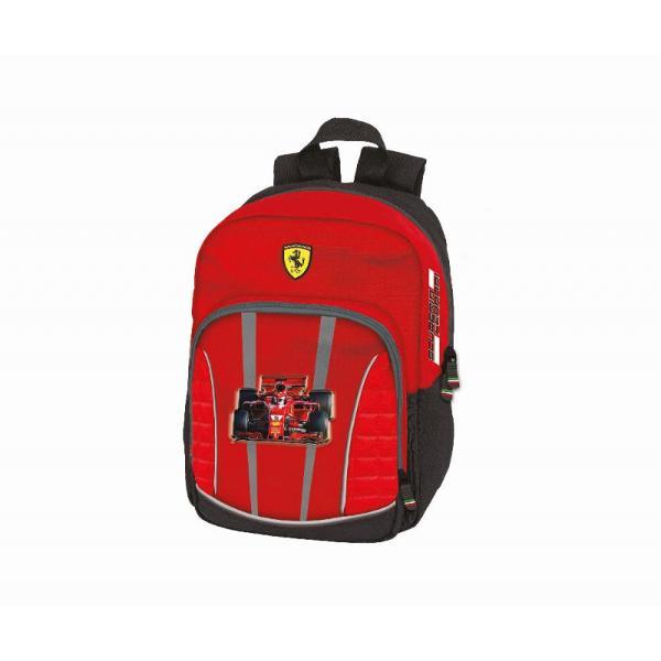 Rucsac Ferrari rosu Gradinita 30 cmrucsac pentru gradinita;doua compartimente;inchidere cu fermoar;culoare rosie;material poliester;Dimensiuni 30 x 23 x 10 cm