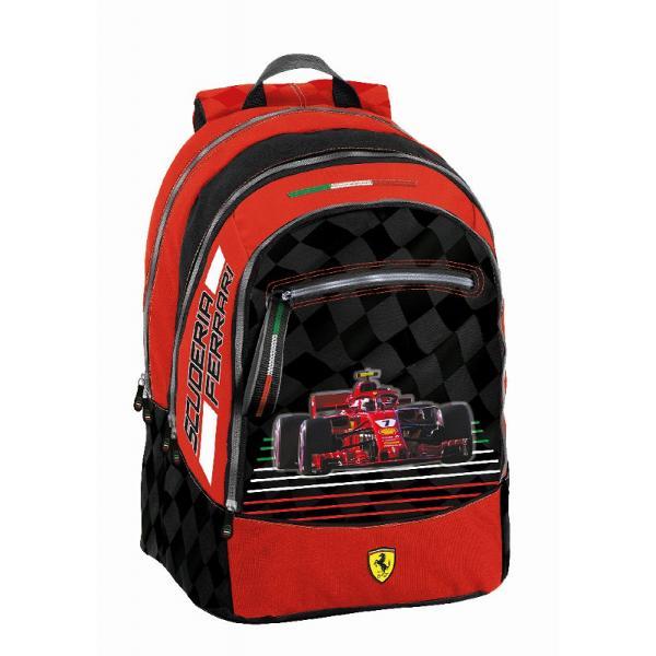 Rucsac Scoala Ferrari 43 cm3&160;compartimente spatioaseinchidere cu fermoarbretele reglabilematerial poliesterdimensiuni 43 x 32 x 12 cmrecomandat pentru clasele 5-8