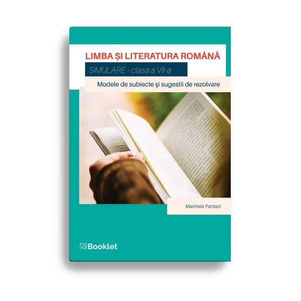 Limba &537;i literatura român&259; Simulare pentru clasa a VII-a este o carte care vine în sprijinul elevilor de clasa a VII-a în curs de preg&259;tire pentru sus&539;inerea Evalu&259;rii Na&539;ionaleLucrarea con&539;ine• 35 de modele de subiecte adaptate programei de clasaa VII-a;• 10 sugestii de rezolvare accesibile &537;i relevanteCartea se distinge prin varietatea &537;i atractivitatea textelor alese prin