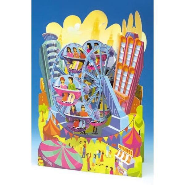 Felicitare 3D Swing Cards dinamica model-RoataFelicitarile 3D Swing Cards sunt cele mai detaliate bine concepute si interesante felicitari pe care le veti vedea vreodata O gama de felicitari tip pop-up multi-premiata sunt felicitari 3D interactive vin gata asamblate se deschid pentru a forma intr-un mod incredibil&160;forme&160;3D au&160; spatiu pentru mesajulDimensiunea 15 x 20 cm