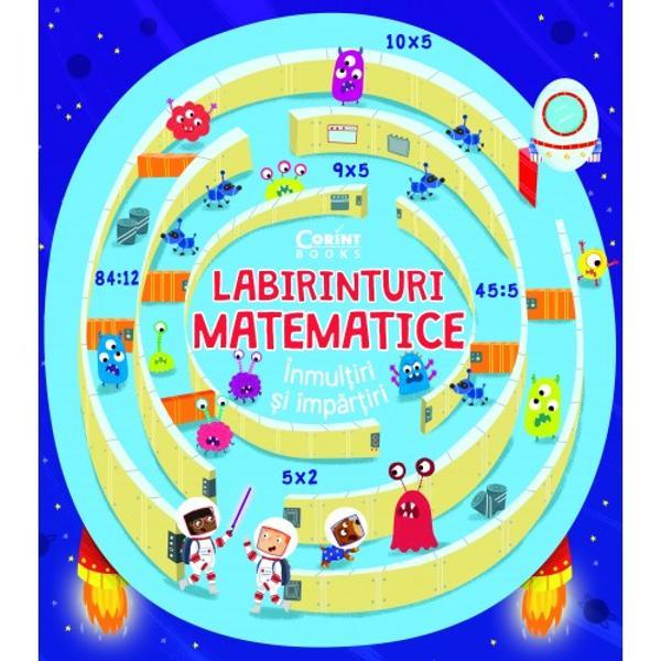 O carte plin&259; cu labirinturi colorate &537;i amuzanteUn nou mod simplu &537;i pl&259;cut de a face primii pa&537;i pe drumul provocator al matematiciiExploreaz&259; p&259;durea magic&259; adu racheta printre stele ajut&259; cavalerul s&259; afl e unde este calul s&259;u caut&259; comoara pierdut&259; al&259;turi de pira&355;i – acestea &537;i multe alte aventuri fascinante în timp ce exersezi