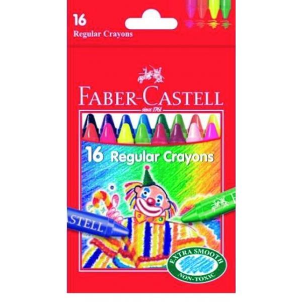 Set de creioane cerate contine 16 bucMarca Faber Castell