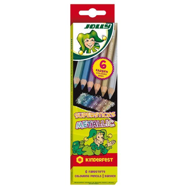 Creioane colorate Jolly metalizate-efect de stralucire Speciale pentru hartie si carton de culori inchise Calitate deosebita span