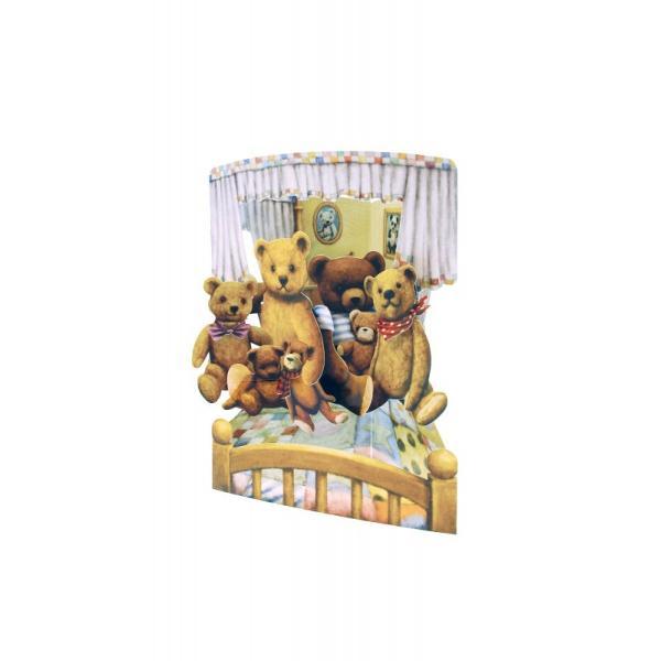 Felicitare 3D Swing Cards dinamica&160;-&160;Ursuleti de plusFelicitarile 3D Swing Cards sunt cele mai detaliate bine concepute si interesante felicitari pe care le veti vedea vreodata O gama de felicitari tip pop-up multi-premiata sunt felicitari 3D interactive vin gata asamblate se deschid pentru a forma intr-un mod incredibil&160;forme&160;3D au spatiu pentru mesajulDimensiunea 15 x 20 cm
