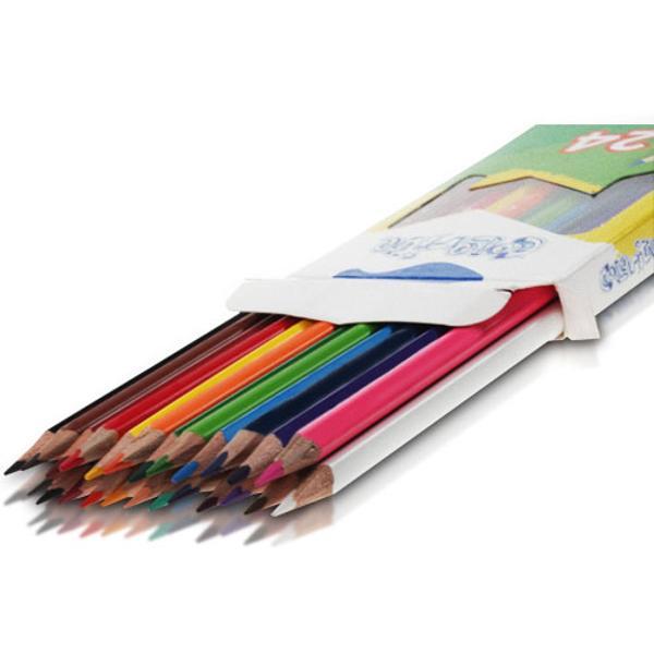 Creioane colorate  set 24 culori Diametru grif 29mmNu sunt recomandate copiilorcu virsta sub 3 ani