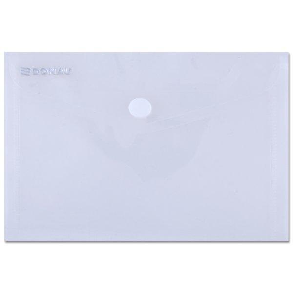 Mapa A6 cu butoncapsa din plastic transparent cristalPlastic de 180 microniFormat 105x148x015 cmAmbalare 10 bucset