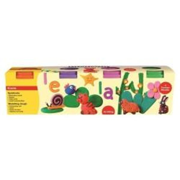 Plastilina Softclay 4 Culori Speciale Marca Faber Castell
