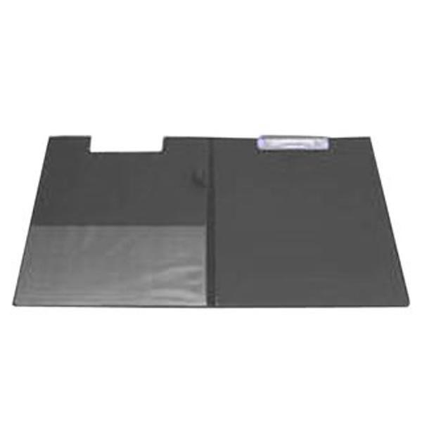 Clipboard dublu A4 Realizat din carton gros laminat cu folie PVC de 160 microniDispune de un suport tip bucla pentru stilou sau pix si un buzunar triunghiular intern din plastic transparentCapacitate 50 coli 80 gr
