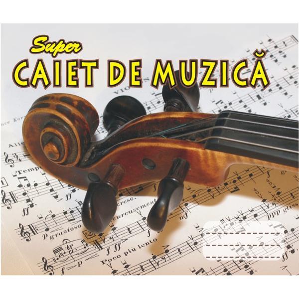 Caiet de muzica de 32 de file