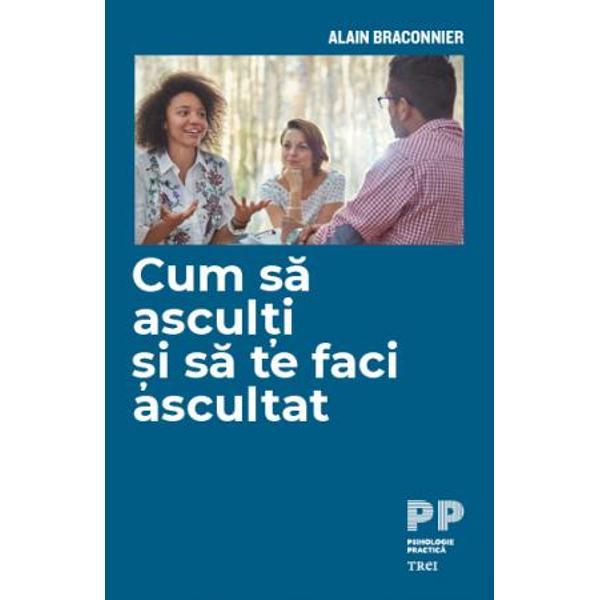 Ma asculti ma mai auzi   De la interpelare la somare aceasta intrebare se iveste in nenumarate situatii personale familiale sau sociale Desi suntem mari consumatori de informatii si comunicare virtuala tot mai des simtim ca nu suntem ascultati ca nu suntem luati in seama In aceasta carte celebrul psihoterapeut francez Alain Braconnier pleaca de la o serie de exemple ce tin de educarea copiilor de viata de cuplu sau de intalnirile profesionale pentru a ne arata cum putem sa invatam sa i