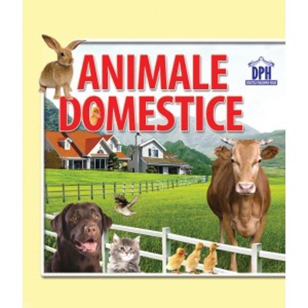 Carte pliat&259; din care cei mici înva&539;&259; care sunt animalele domestice din imagini Imaginile sunt legate în &537;ir &537;i se pliaz&259; sub form&259; de carte