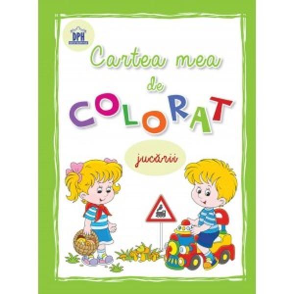 Carte de colorat - jucarii