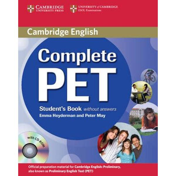 Informed by the Cambridge Learner Corpus and providing an official PET past exam paper from Cambridge ESOL Complete PET is the most authentic exam preparation course available Each unit of the Students Book covers one part of each PET paper and provides thorough practice for the examGrammar and vocabulary exercises target areas that cause most problems for PET candidates based on data taken from real candidate scripts on the Cambridge Learner Corpus The CD-ROM provides