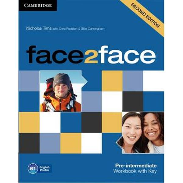 face2face Second edition is the flexible easy-to-teach course for busy teachers who want to get their adult and young adult learners to speak and listen with confidence face2face is the flexible easy-to-teach General English course that helps adults and young adults to speak and listen with confidence face2face is informed by Cambridge English Corpus and its vocabulary syllabus has been mapped to the English Vocabulary Profile meaning students learn the language they really need at each