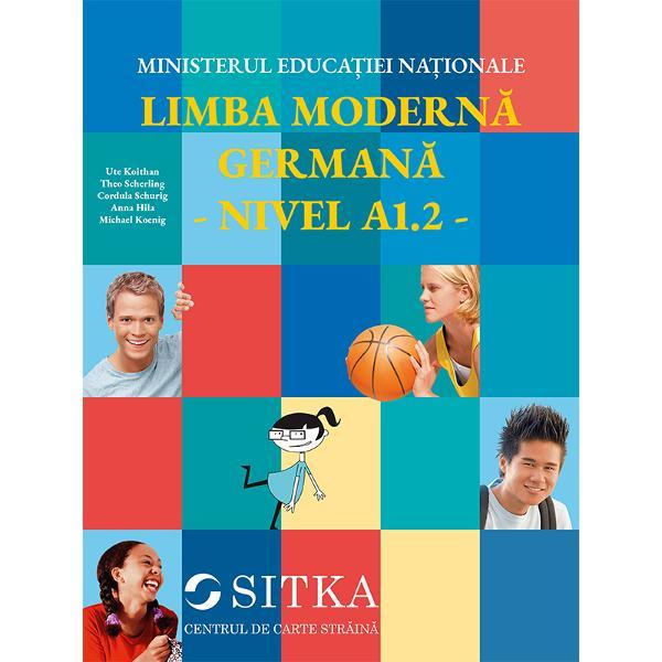 Prezentul manual de limba german&259; modern&259; constituie un instrument de lucru atât pentru profesorul de limba german&259; cât &537;i pentru elevii care au ajuns la nivelul de înv&259;&539;are A12 a limbii germane Manualul LIMBA MODERN&258; GERMAN&258; - NIVEL A12 atrage de la bun început prin calitatea ilustra&539;iei &537;i cea a tehnoredact&259;rii prin dimensiunile rezonabile &537;i