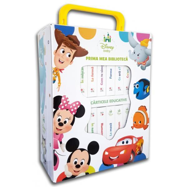 Cutia con&539;ine 12 c&259;rticele educative prin care cei mici vor înv&259;&539;a termeni de baz&259; cu ajutorul personajelor îndr&259;gite de la Disney