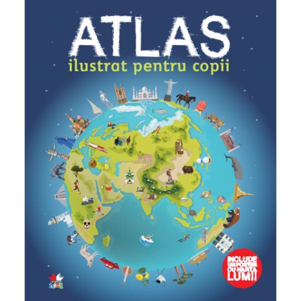 H&259;r&539;ile din acest atlas incredibil i&539;i arat&259; numeroase &539;&259;ri ale lumii &537;i multe popoare precum &537;i regiuni str&259;b&259;tute de fluvii mun&539;i p&259;duri câmpii sau de&537;erturiDin înghe&539;ata Antartica la p&259;durile tropicale luxuriante din Brazilia &537;i la de&537;erturile uscate &537;i fierbin&539;i ale Africii iat&259; o lume minunat&259; care te a&537;teapt&259; s&259; o descoperi