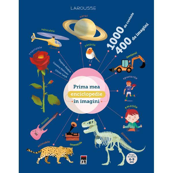 Peste 1000 de cuvinte si o intreaga lume de descoperit in imaginiUn dictionar in imagini care le va permite tuturor micilor curiosi sadobandeasca un vocabular bogat si precis in numeroare domenii