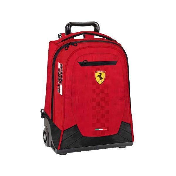 Troler Ferrari rosu voiaj 47 cm&160;troler cu maner reglabil;2 compartimente spatioase;inchidere cu fermoar;bretele reglabile;material poliester;culoare Rosu;Dimensiuni 47 x 32 x 10 cm
