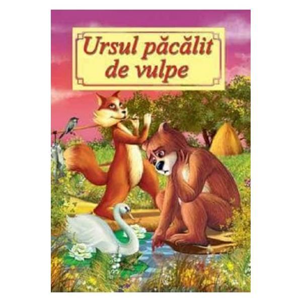Ursul pacalit de vulpe repovestita dupa Ion Creanga este o carte potrivita pentru copiii de gradinita si cei din clasele mici care abia au invatat sa citeasca Ilustratiile colorate stimuleaza creativitatea copiilor care pot vizualiza mai usor firul povestii