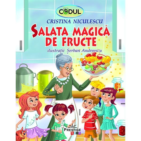 """Povestea de fata """"Salata magica de fructe"""" este a 2 - a poveste din colectia celor 10 povesti magice din colectia """"Codul copiilor de succes"""" Mai jos aveti lista completa a acestora Sper sa va bucurati din plin de fiecare dintre acestea si sa le descoperiti micile taine ascunse """"la vedere"""" printre randurile scrise cu drag pentru copii1 Un hobby cu totul si cu totul special - O poveste despre increderea in fortele proprii2 Salata magica"""