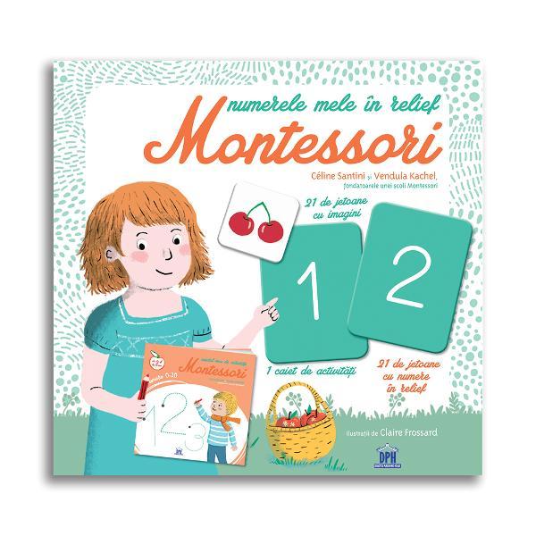 Un ghid pentru p&259;rin&539;i inspirat de pedagogia Montessori pentru citirea &537;i scrierea numerelor Elaborat de Céline Santini &537;i Vendula Kachel fondatoarele unei &537;coli Montessori Con&539;ine - 1 caiet de activit&259;&539;i pentru citirea &537;i scrierea numerelor - 21 de jetoane cu numere în relief - 21 de jetoane cu imagini pentru asocierea numerelor cu imaginile