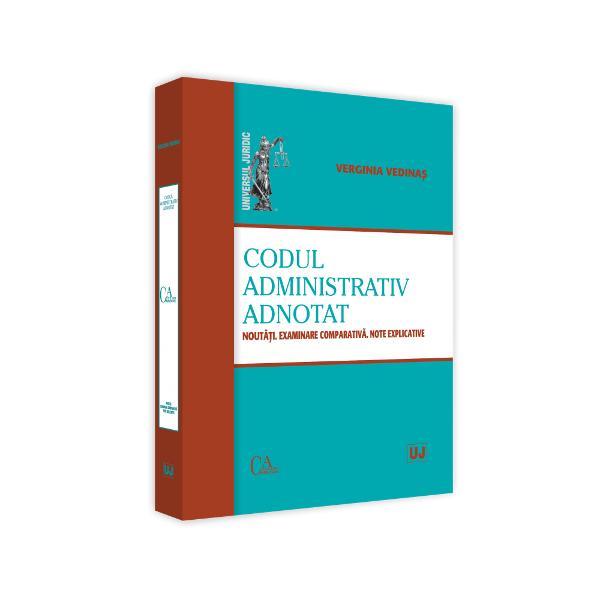 """Aceasta lucrare realizeaza o prezentare """"la cald"""" a elementelor structurale ale Codului administrativ par&539;i titluri capitole Ne-am asumat-o con&537;tien&539;i fiind de iminen&539;a na&537;terii Codului precum &537;i de faptul ca un comentariu articol cu articol constituie un demers anevoios care necesita timp &537;i o echipa de autori care sa le analizeze sensurile litera &537;i spiritul spre a realiza un instrument de lucru cel pu&539;in la fel de necesar"""