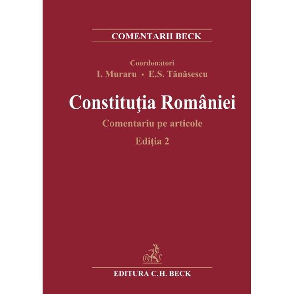 Devenit&259; în scurt timp o lucrare clasic&259; în domeniu Constitu&355;ia României comentat&259; reprezint&259; un ghid indispensabil pentru în&355;elegerea fenomenelor constitu&355;ionale prin amploarea &351;i acurate&355;ea analizelorDespre Edi&355;ia 2Edi&355;ia 2 actualizeaz&259; &351;i îmbog&259;&355;e&351;te informa&539;ia prezentat&259; publicului larg în prima edi&539;ie din 2008 a