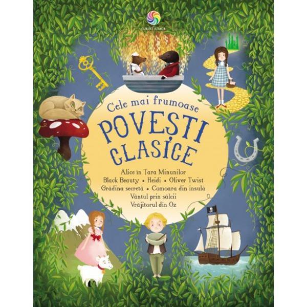 Cele mai îndr&259;gite personaje care au încântat genera&539;ii întregi de copii se întâlnesc în aceasta delicioas&259; colec&539;ie de la Alice &537;i Iepurele Alb la Dorothy &537;i Vr&259;jitorul din Oz de la Oliver Twist &537;i Maestrul &536;mecheriilor la Broscoiul &537;i SobolulPerfecte pentru a fi citite cu voce tare aceste pove&537;ti clasice sunt scrise într-un limbaj accesibil copiilor însa au &537;i