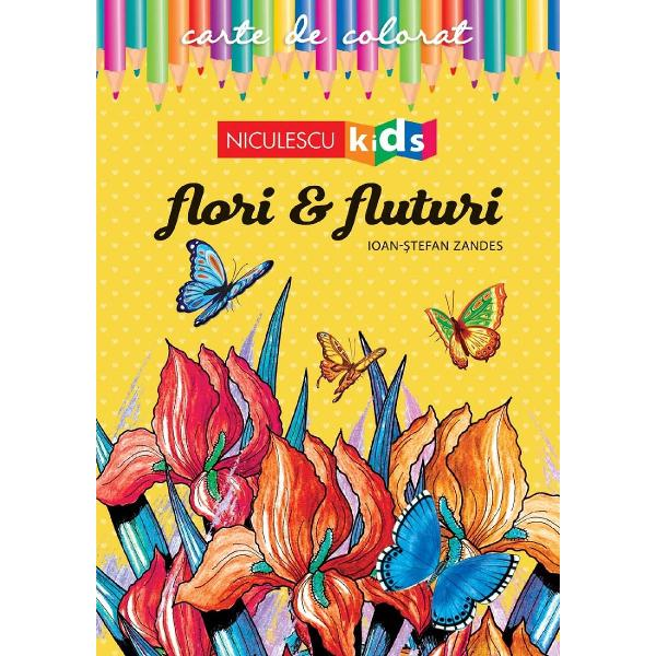FLORILE ne încânt&259; privirea oriunde le întâlnimFLUTURII au fascinat întotdeauna prin frumuse&355;ea culorilor aripilorAjut&259;-i pe cei mici s&259; înve&355;e s&259; coloreze flori &351;i fluturi plecând de la modelele desenate inspirat de autorAstfel ace&351;tia î&351;i vor dezvolta creativitatea &351;i VOR DESCOPERI CÂT DE TALENTA&354;I SUNT