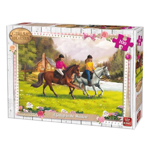 Puzzle 100 piese Gallop In The MeadowIn cazul in care iubesti animalele si in special caii in mod sigur vei adora sa asamblezi acest puzzle superbDimensiuni puzzle244x177 cmDimensiuni cutie 255x19x45 cm