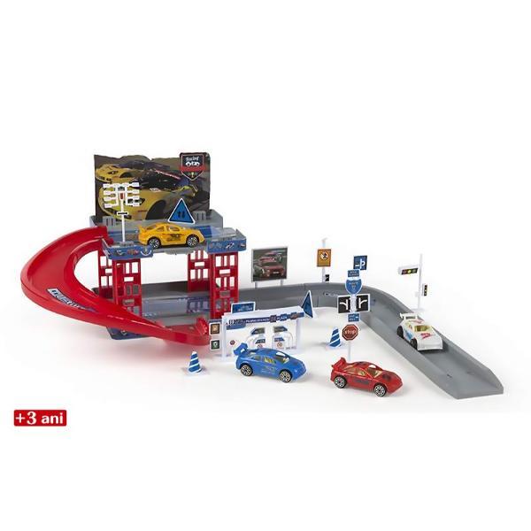 CB-Parcare-garaj cu etaj&160;si 4&160;masini diecastCB-Parcare-garaj cu etaj&160;si 4&160;masini diecast&160;este un set de joaca minunat pentru orice baietel continand o multime de elemente diversificate cu ajutorul carora copilul poate&160;crea garaj&160;masinilor Acest set este un stimulent pentru creativitate copilul fiind nevoit sa-si creeze&160;singur traseul&160;garajul supraetajatDimensiune 37 x 55 x 28 cm