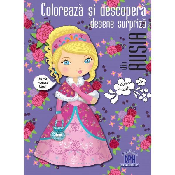 O carte de colorat ca s&259; descoperi Rusia râzând cu hohote de surprizele din desene