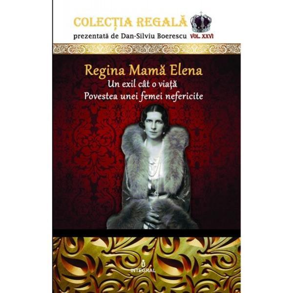 Povestea frumoasei elegantei &537;i sensibilei Principese plecate de pe meleagurile Eladei pentru a d&259;rui României ultimul s&259;u Rege se suprapune istoriei zbuciumatului veac XX cu toate meandrele &537;i nenorocirile sale Regina Mam&259; Elena a cunoscut sublimul dar &537;i dezn&259;dejdea g&259;sindu-&537;i lini&537;tea etern&259; doar la aproape patru decenii de la trecerea sa în nefiin&539;&259; când osemintele i-au fost în fine repatriate