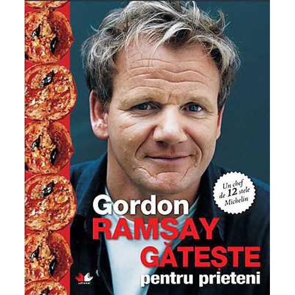 Departe de agita&355;ia nebun&259; a unei buc&259;t&259;rii profesionale în casa lui Gordon Ramsay domne&537;te o atmosfer&259; relaxat&259; în care g&259;titul e distractiv &537;i to&539;i membrii familiei sunt implica&539;i în prepararea mânc&259;rii pentru mesele de zi cu zi &537;i pentru petrecerile cu prietenii Cele peste 100 de re&355;ete din aceast&259; carte ilustreaz&259; preparatele clasice ale