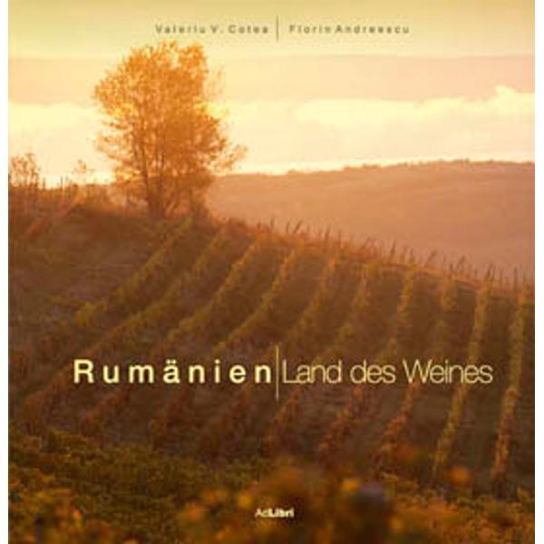Romania cu un binemeritat renume de Tara Vinului incepe sa fie din ce în ce mai cunoscuta pe piata internationala a vinurilor Lucrarea de fata isi propune sa prezinte importanta resurselor viticole romanesti si sa ofere informatii despre istoricul conditiile geografice si climatice ale principalelor areale viticole soiurile cultivate cei mai activi producatori constituindu-se intr-un veritabil ghid al podgoriilor si vinurilor Romaniei Bogatul material informativ furnizat de