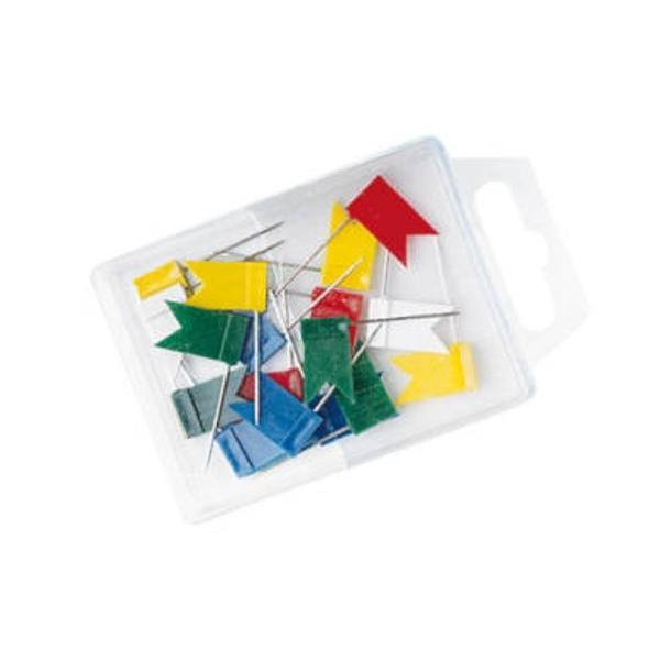 Pentru marcarea sau de semnalizare pe harti buletine etc Dimensiune steaguri 18 x 10 mm 25 mm lungime ac  Livrat in cutie plastic cu 20 de piese