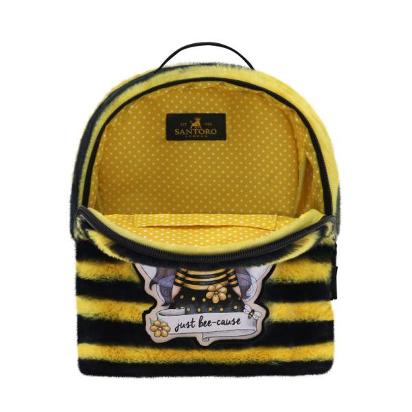 Rucsac fashion mic Gorjuss Furry Bee LovedMaterial Poliester si piele ecologicaDimensiuni 22x19x10 cm&160;Varsta recomandata 3 aniColectie Gorjuss&160;Furry cu blanitaPersonaj Gorjuss Bee Loved