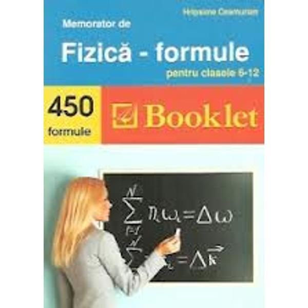 Memorator fizica formule editia 2016