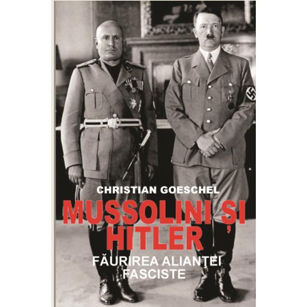 Între anii 1934 &351;i 1944 Hitler &351;i Mussolini s-au întâlnit de numeroase ori expresie a unei rela&355;ii puternice cu profunde implica&355;ii în via&355;a politic&259; a &355;&259;rilor pe care le conduceauCu toate c&259; Germania hitlerist&259; este considerat&259; o mai mare putere în raport cu Italia lui Mussolini autorul Christian Goeschel demonstreaz&259; în aceast&259; lucrare cât de mult a fost subestimat&259;