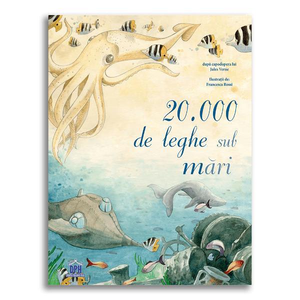 În cazul în care adâncurile m&259;rii au o atrac&539;ie misterioas&259; pentru tine dac&259; visezi aventuri incredibile în oceanele planetei atunci aceast&259; capodoper&259; de Jules Verne este cartea potrivit&259; Al&259;tura&539;i-v&259; profesorului Aronnax servitorului s&259;u credincios Conseil &537;i marinarului Ned Land la bordul submarinului Nautilus condus de misteriosul c&259;pitan Nemo Vei lua parte la vân&259;toarea